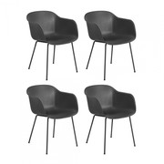 Muuto - Fiber Armchair Tube Base Set Of 4