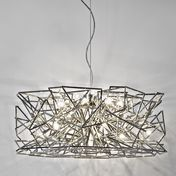Terzani - Etoile Suspension Lamp 70cm - nickel/glossy