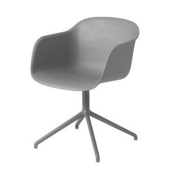 Muuto - Fiber Chair Drehstuhl - grau/Gestell grau
