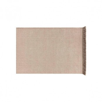 GAN - Garden Layers Diagonal Teppich 90x200cm - mandel-elfenbein/Handwebstuhl