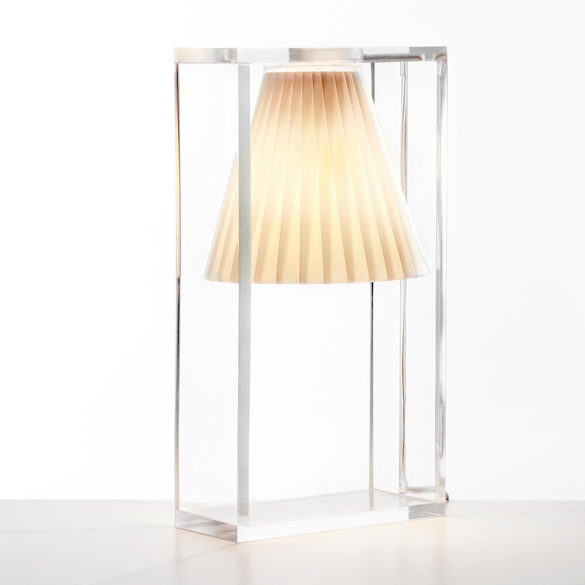 Light-Air - Lampe de table abat-jour tissu | Kartell ...