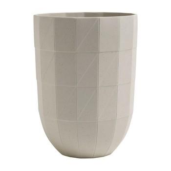 HAY - Paper Porcelain Vase L - grau/Ø14cm/H 19cm