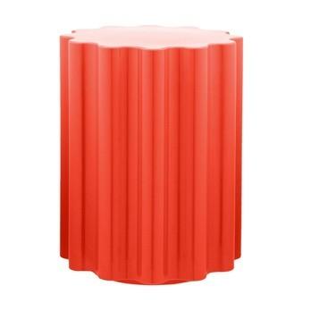 Kartell - Colonna Hocker/Beistelltisch H:46cm - rot/H 46cm/ Ø 34,5cm