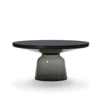 ClassiCon - Bell Kaffeetisch Stahl - quarz-grau/Stahl schwarz brüniert/Ø75cm/H:36cm