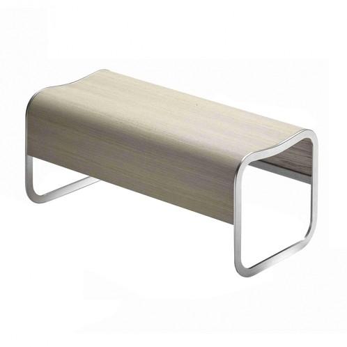 la palma - Za-2 Bank stapelbar Gestell Aluminium - eiche gebleicht/Holz