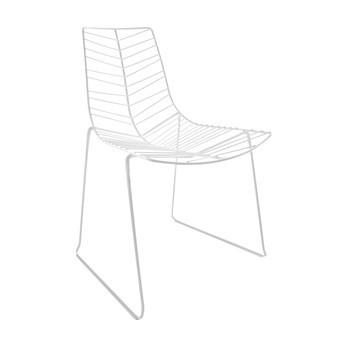 Arper - Leaf Stuhl stapelbar - weiß/Stahl/H x B x T: 82 x 60 x 57cm
