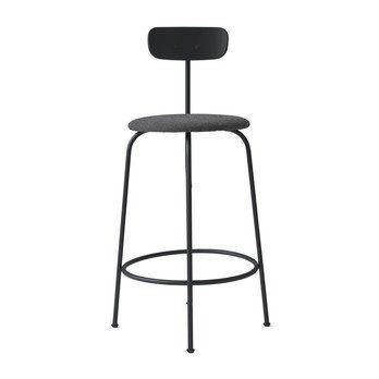 Menu - Afteroom Counter Chair Hocker gepolstert - schwarz/schwarz melange/pulverbeschichtet/HxBxT: 92x46x54cm/Sitzpolster Stoff Kvadrat