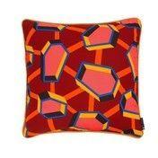 HAY - Printed Cushion Kissen Full - rot/mit Federfüllung/50x50cm