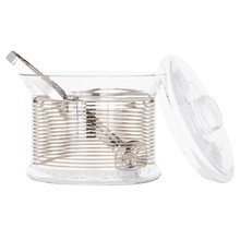 Tom Dixon - Tank Platinum Stripe Ice Bucket and Tongs