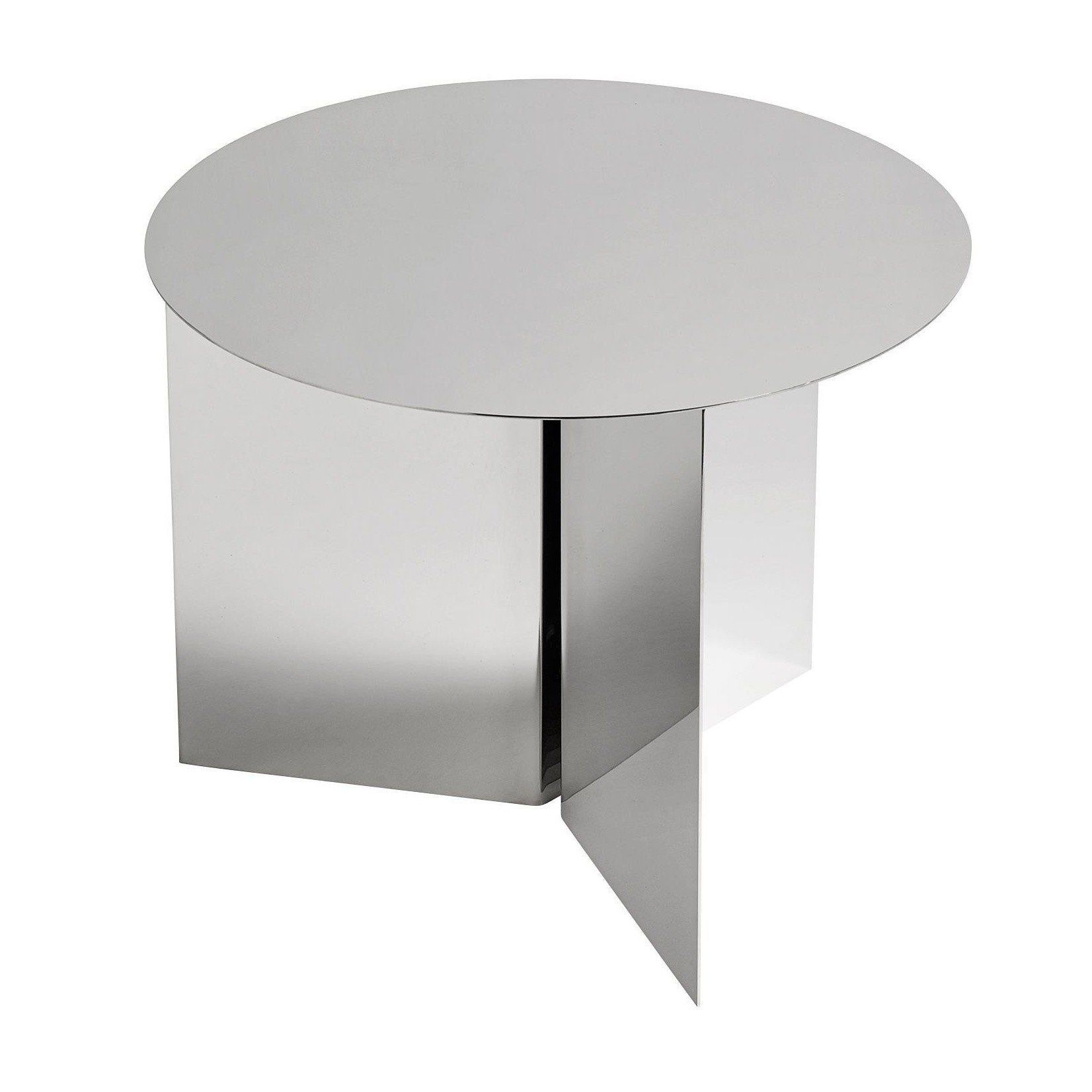 ... HAY   Slit Table Round Side Table   Mirror/polished/H 35.5cm/ ...