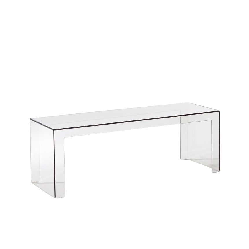 Kartell   Invisible Side Table   Crystal Clear/transparent/LxWxH 120x40x40cm