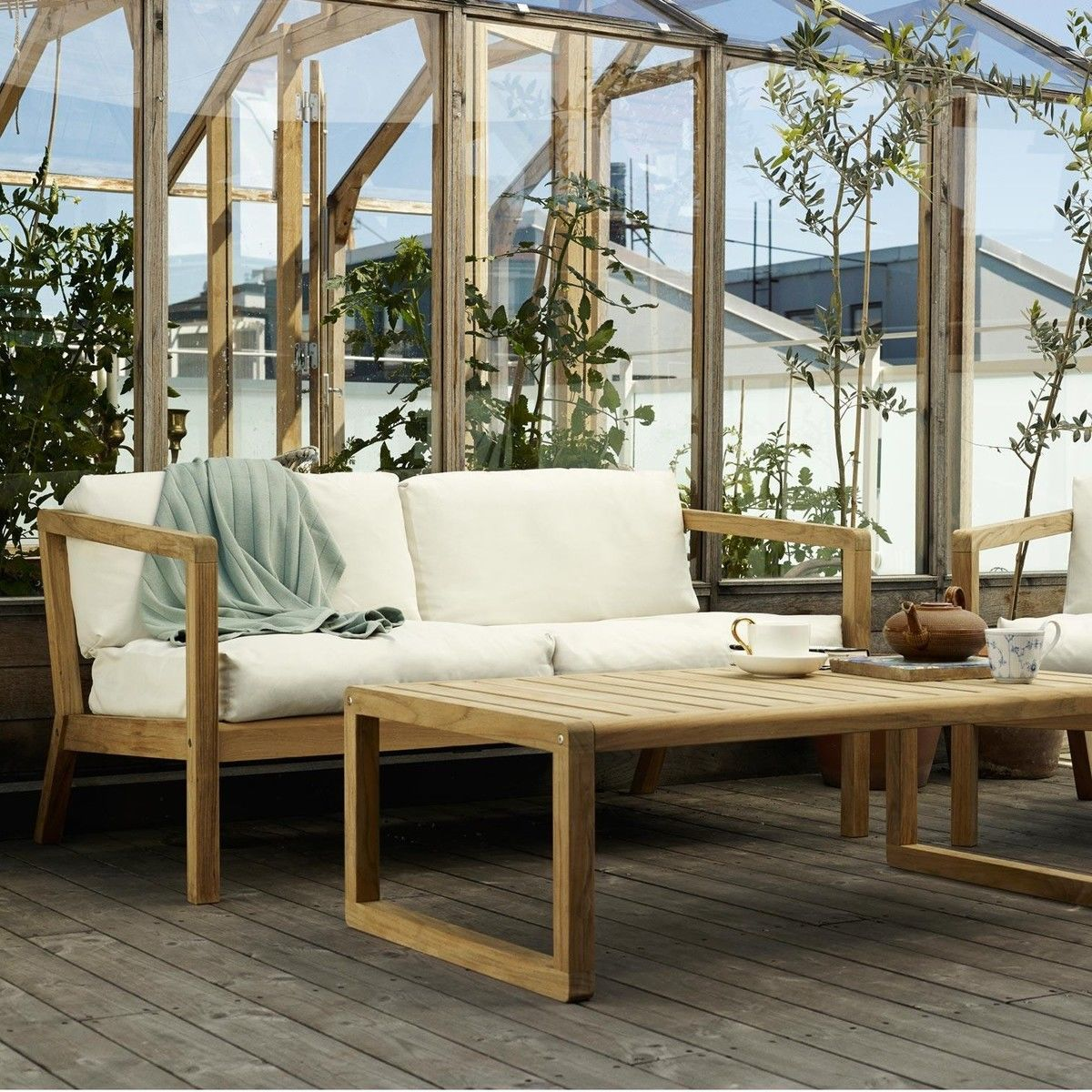 Lounge sofa 2 sitzer outdoor  Virkelyst Outdoor 2-seater sofa | Skagerak | AmbienteDirect.com