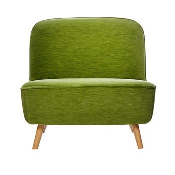 Moooi - Cocktail Chair Sessel - grün/Stoff Velour Moss/gebeizte Holzbeine