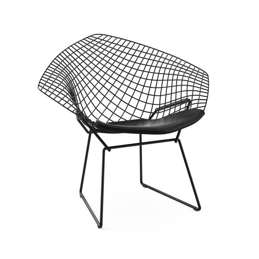 ... Knoll International   Bertoia Diamond Outdoor Armchair   Black/without  Seat Pad ...