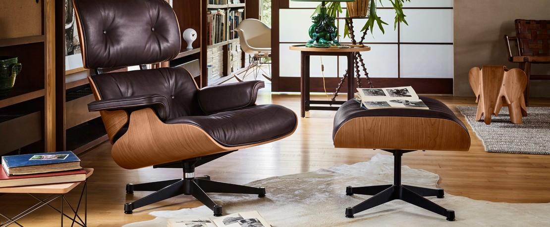 Vitra Eames Lounge Sessel und Hocker