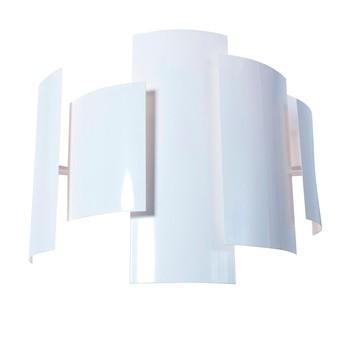 Lumen Center Italia - Skyline 21 Wandleuchte - weiß/glänzend/H40cm x B49cm x T21cm/2900K/3100lm