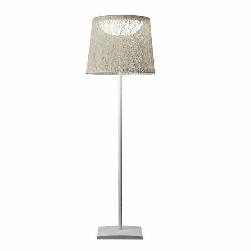 Vibia wind outdoor floor lamp white frame lacquered white h190cm