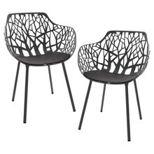 Fast - Set de 2 sillones de jardín Forest con fundas