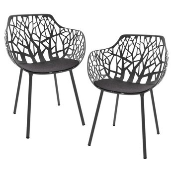 Fast Forest Outdoor Armchair Set Of 2 Ambientedirect