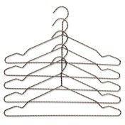 - Twisted Kleiderbügel 5er-Set - anthrazit/eloxiert/42x20cm