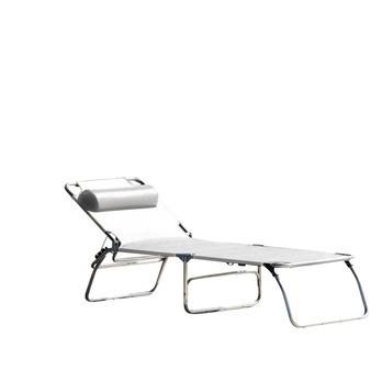 Jan Kurtz - Fiam Amigo Sonnenliege Aktionsset - weiß/Kunststoffgewebe/LxBxH 190x58x29cm/inkl. Nackenrolle/ohne Armlehne