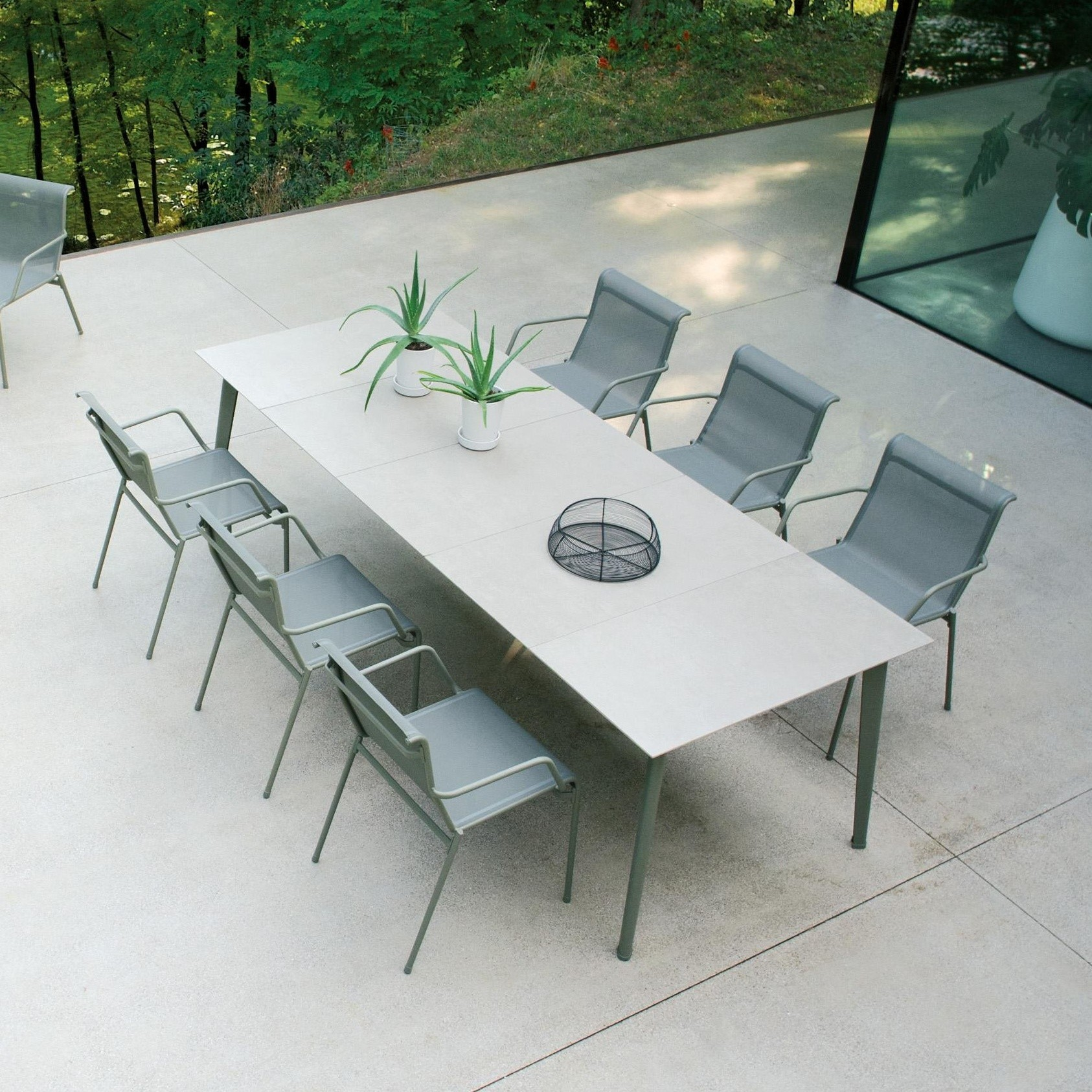 Table de jardin avec allonges Kira