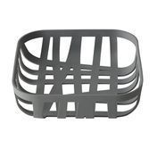 Muuto - Muuto Wicker Bread Basket - dark grey/matt/22x22x6cm