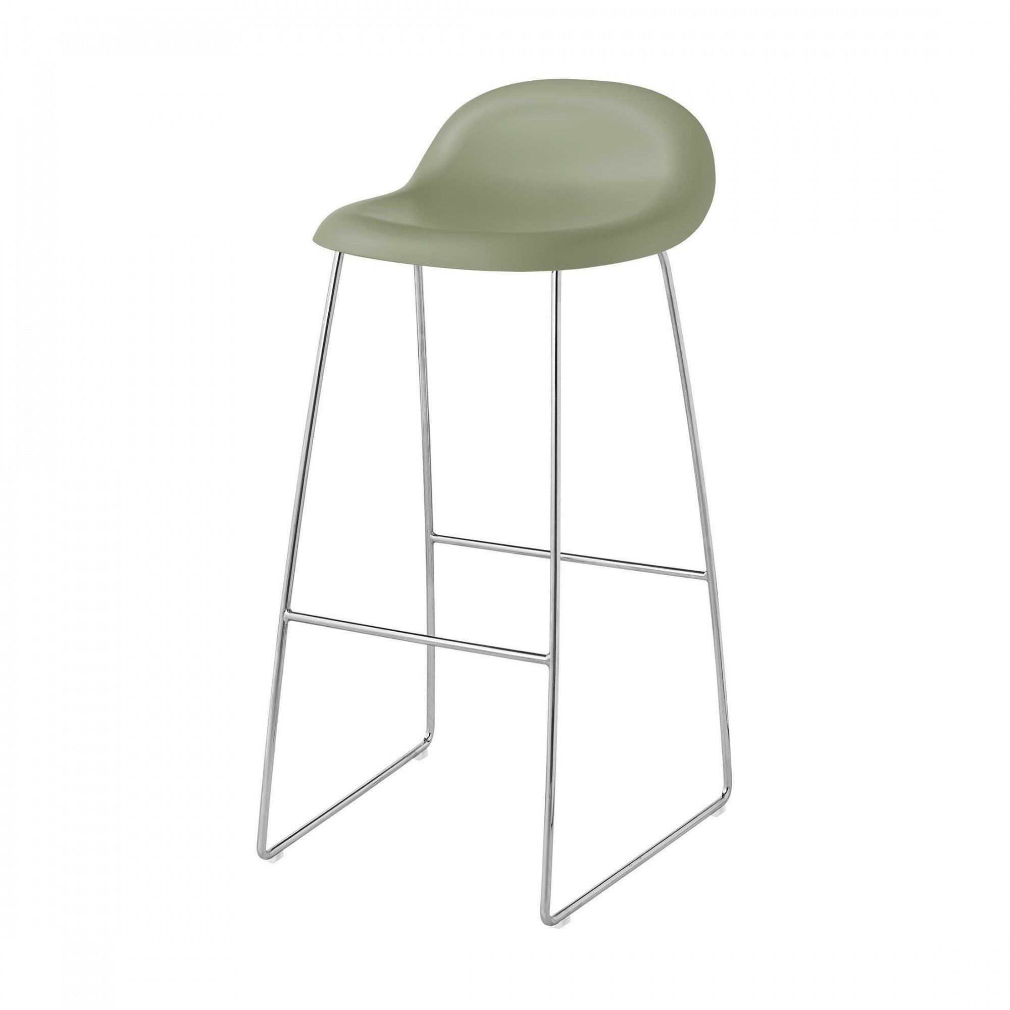 Gubi  Gubi 3D Bar Stool With Chrome Sledge Base