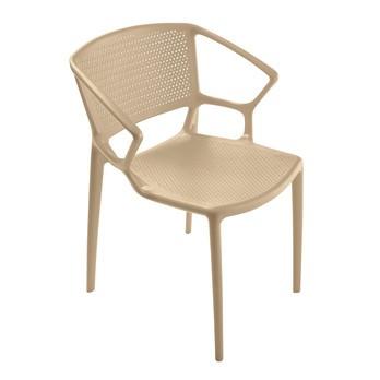 Infiniti - Fiorellina Armlehnstuhl perforiert - sand/Sitz- und Rückenfläche perforiert