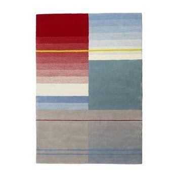 HAY - S&B Colour Carpet Teppich - rot/türkis/grau