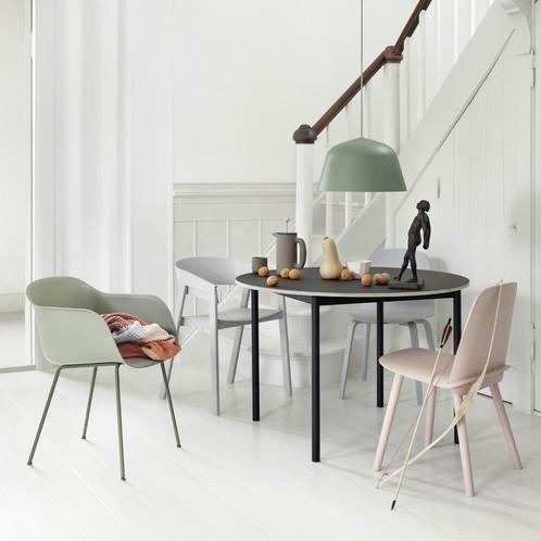 Muuto - Fiber Chair Armlehnstuhl mit Rohrgestell