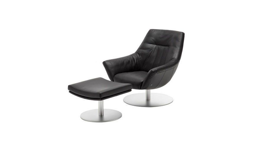 rolf benz 566 fauteuil avec tabouret rolf benz. Black Bedroom Furniture Sets. Home Design Ideas