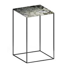 Zeus - Slim Irony Art Side Table 41x41x64cm