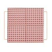 - Mix&Match Tablett quadratisch 30x30cm - pink/37x31x6,5H cm/mit Füßen