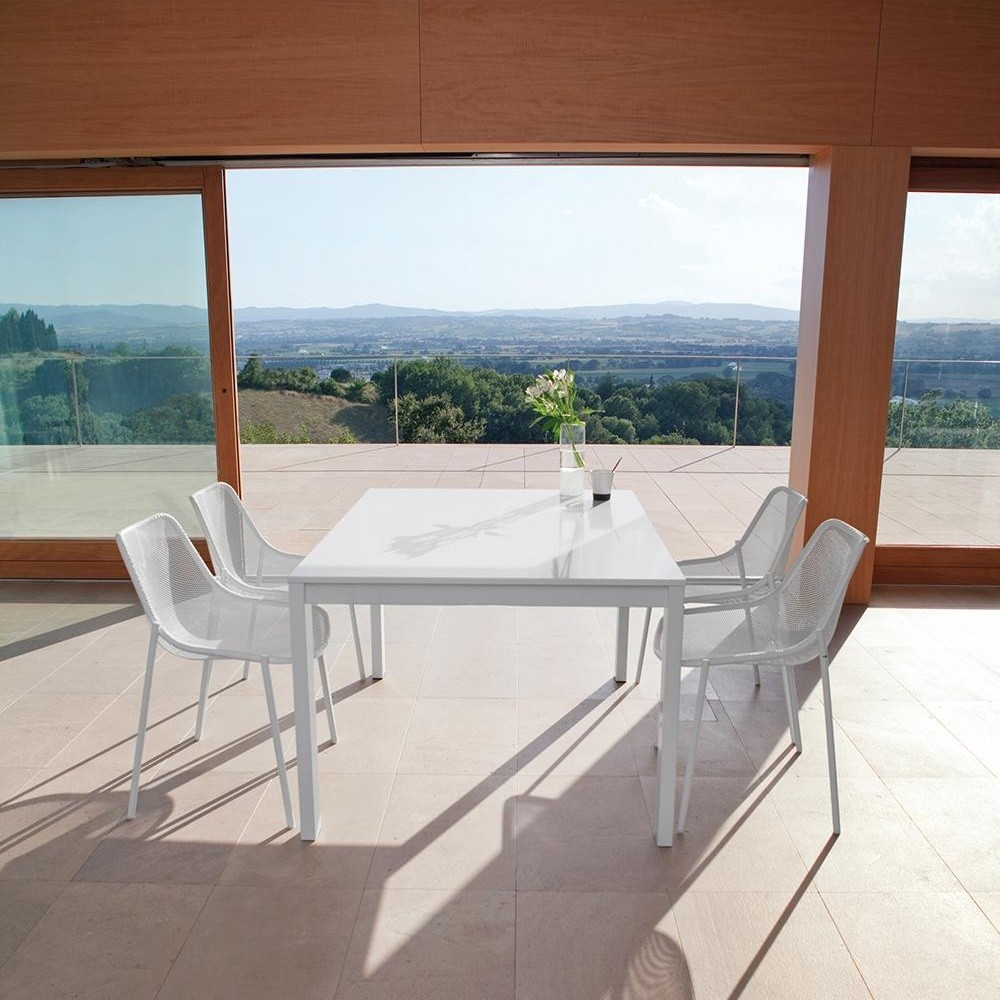 Round Gartentisch ausziehbar antik Eisen Stahl pulverbeschichtet LxBxH 160x100x75cm ausziehbar auf 214 und 268 cm