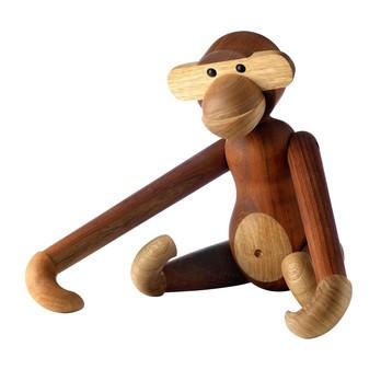 Kay Bojesen Denmark - Kay Bojesen Holz Figur Affe groß - teakholz/limba/H 46cm