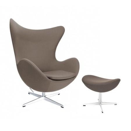 Egg Chair Stof.Fritz Hansen Actie Set Egg Het Ei Stoel Voetenbank Stof