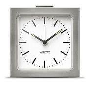 LEFF Amsterdam - LEFF Block Wecker/Reisewecker - weiß/BxH: 8.5x8.5x6cm/Ziffernblatt Linien (index)