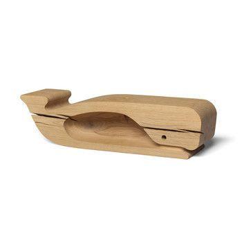 e15 - e15 AC20 Moby Holzfigur  - eiche/LxBxH 53.4x13.5x13.5cm