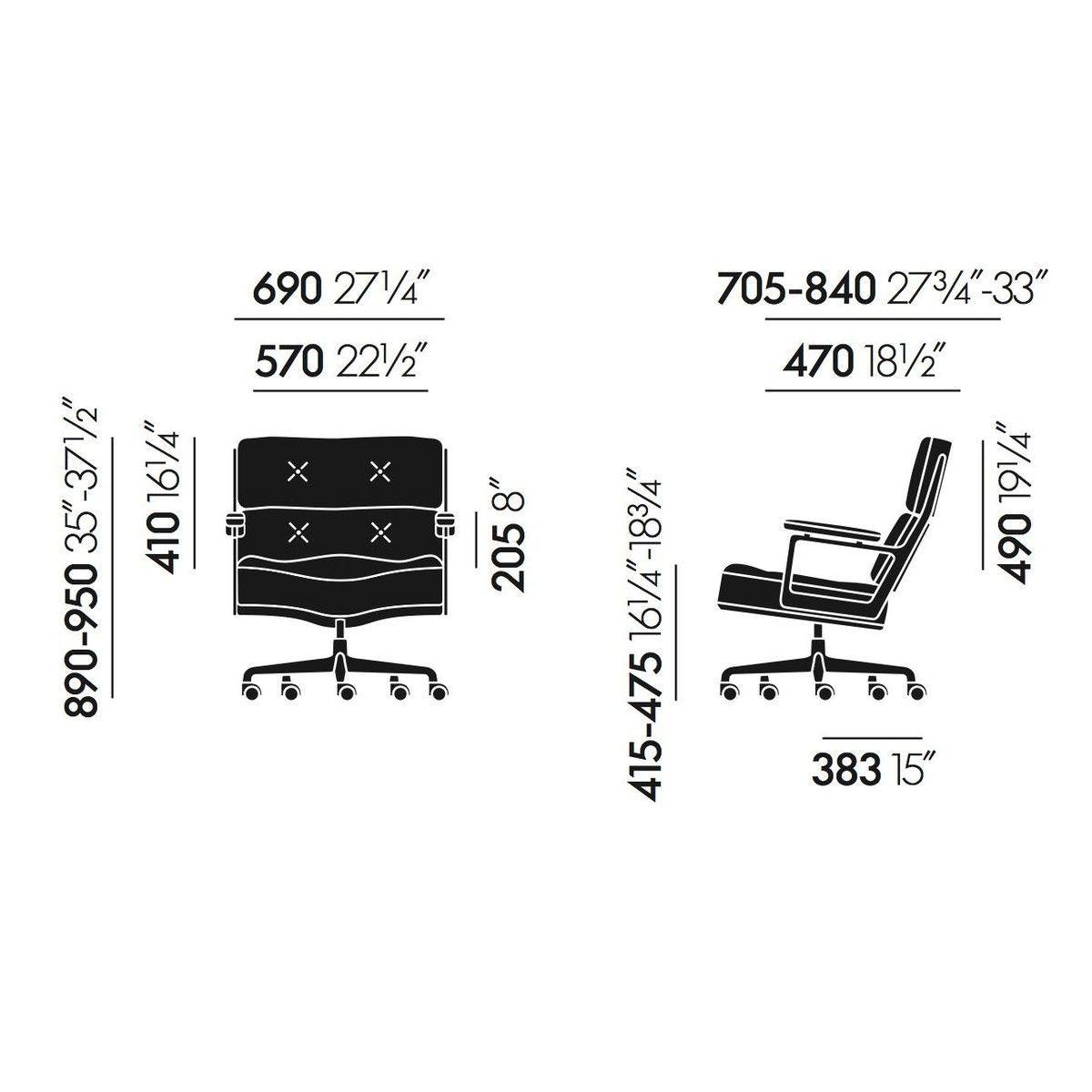 Es 104 eames lobby chair chaise de bureau vitra for Chaise de bureau vitra prix