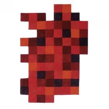 Nanimarquina - Do-Lo-Rez Teppich - rot/Neuseeland-Wolle/184x276cm/je Quadrat: 23x23cm