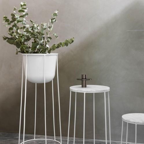Menu - Wire Table Marble Beistelltisch