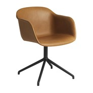 Muuto - Fiber Armchair Swivel Base Full Upholstered