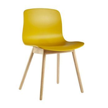 HAY - About a Chair 12 Stuhl Colour - senfgelb/Gestell Eiche geseift