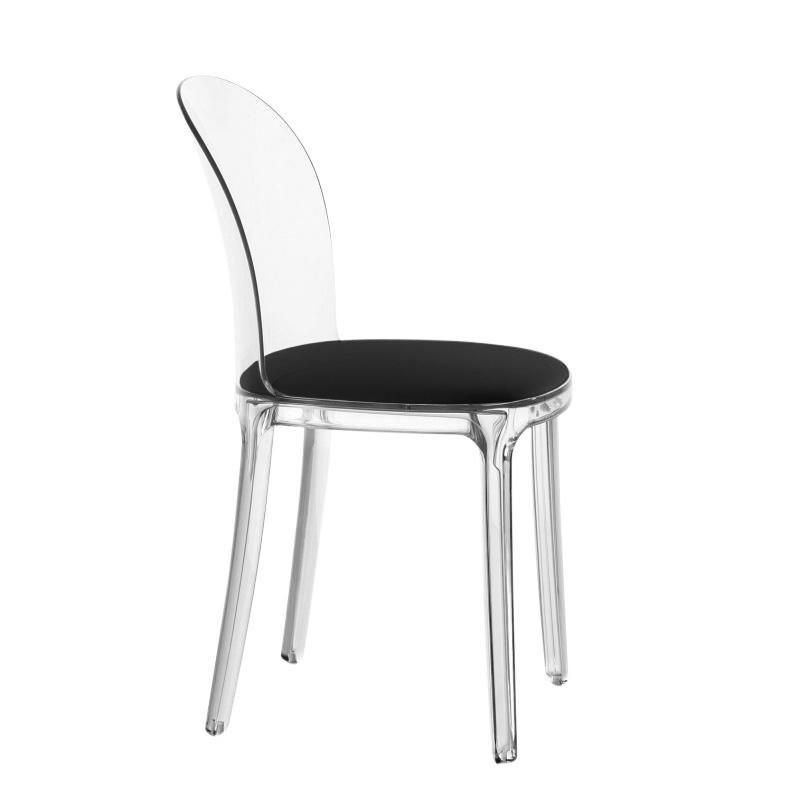magis vanity chair chaise transparente transparenttoffe kvadrat - Chaise Transparente