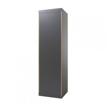 müller möbelwerkstätten - Flai Kleiderschrank FLA61M-AT - anthrazit/1.9cm CPL-Beschichtung/1 Regalboden/1 Kleiderstange/Push-to-Open-Mechanik/BxHxT 61x216x61cm