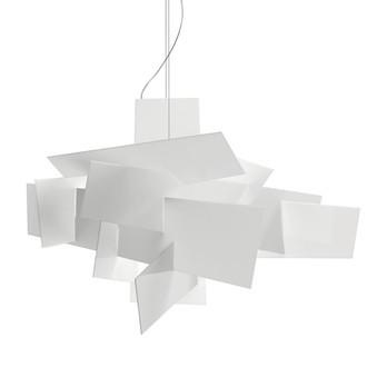 Foscarini - Big Bang L LED Pendelleuchte  - weiß/dimmbar/3000K/6084lm/Schirm: 99x144cm