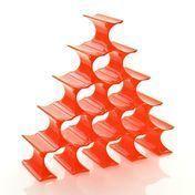 Kartell - Infinity Flaschenständer - orange/Polypropylen