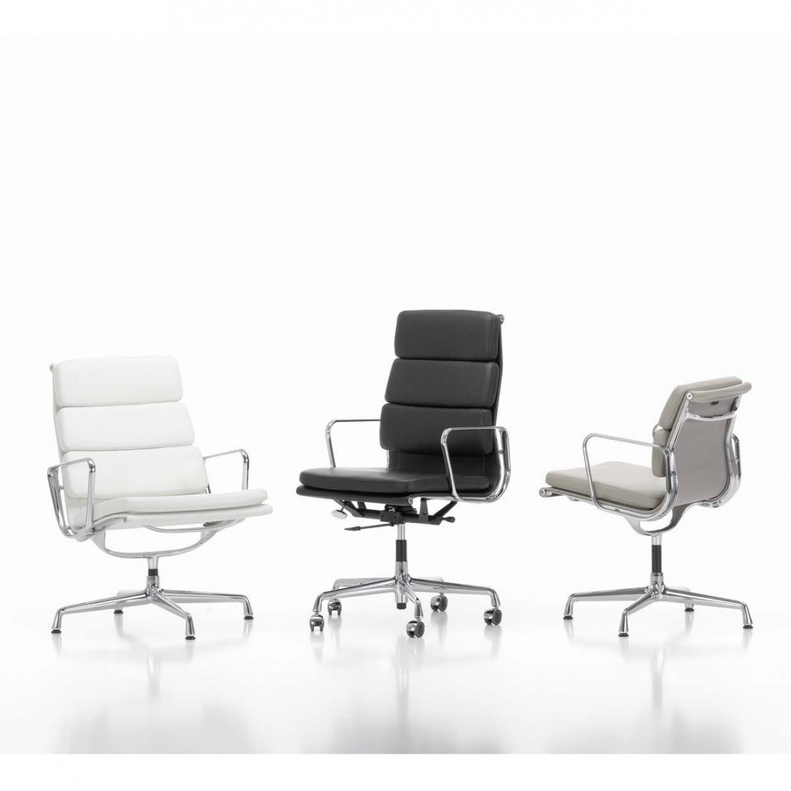 vitra ea 208 soft pad eames alu chair office chair ambientedirect. Black Bedroom Furniture Sets. Home Design Ideas