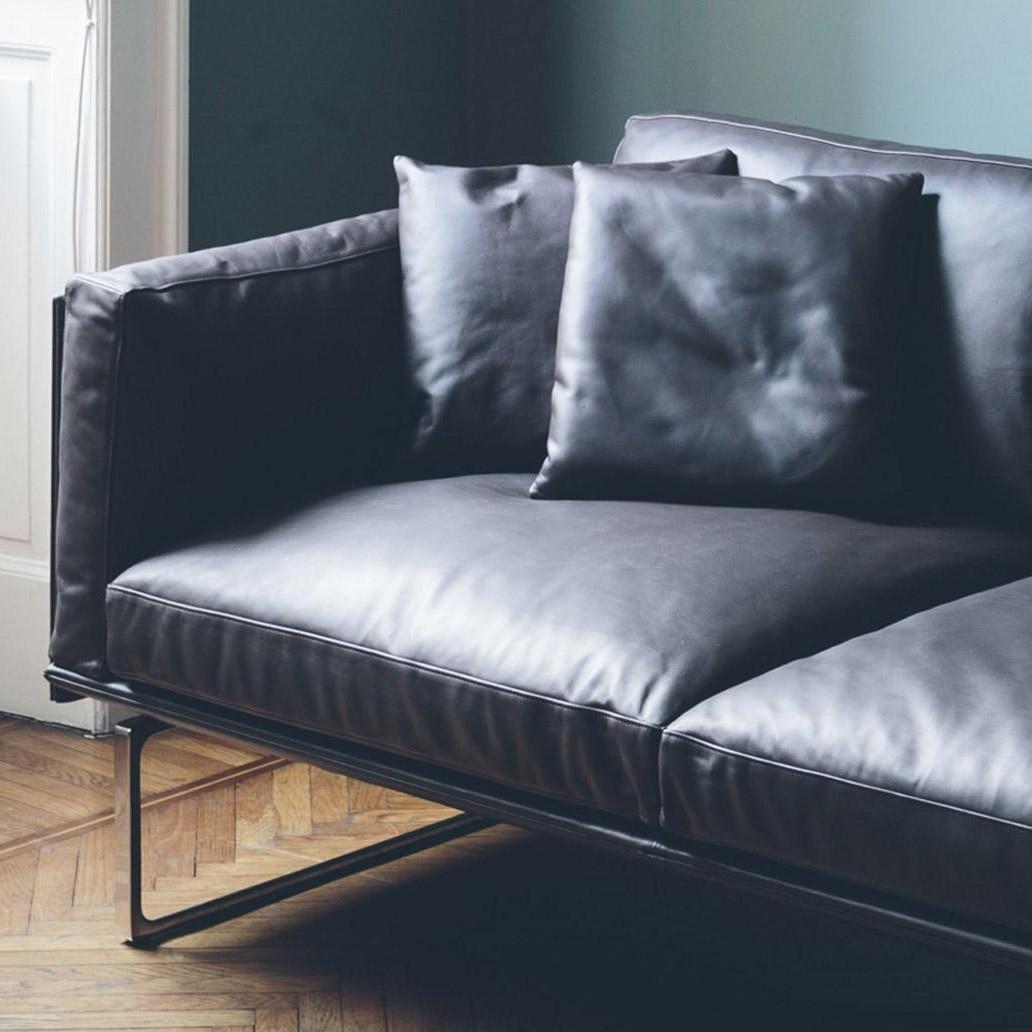 Piero Lissoni 3 Seater Leather Sofa